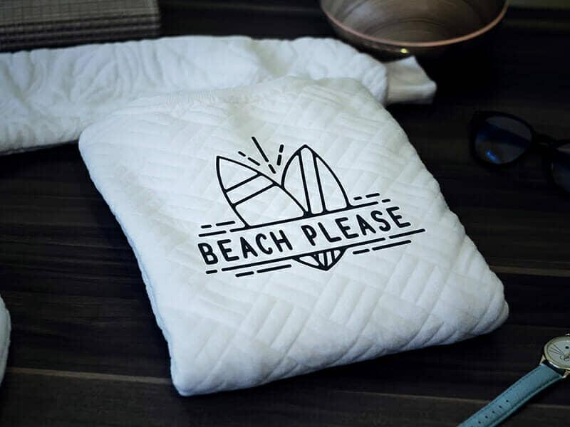 Beach Apparel Sweater Mockup For Logo Branding