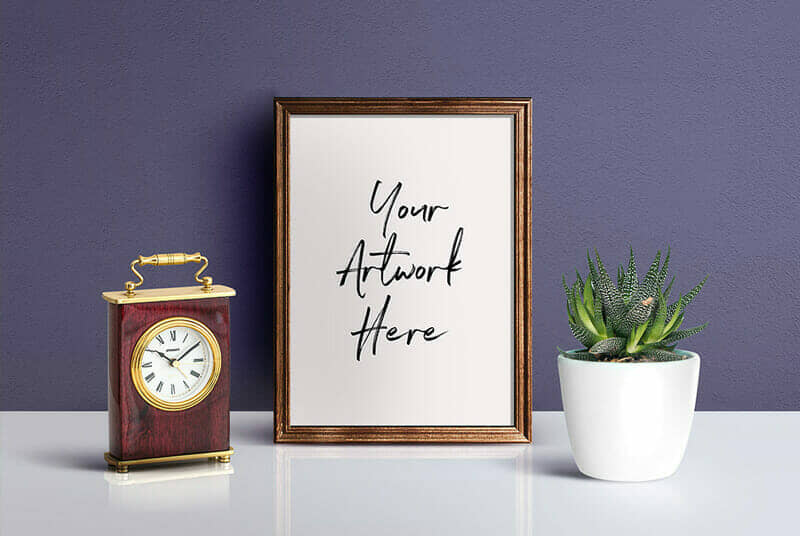 Beautiful Picture Frame Mockup PSD