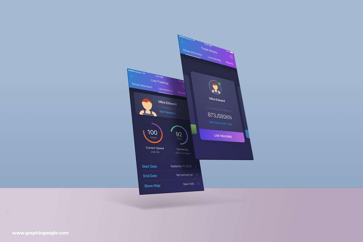 Free App Screens MockUp