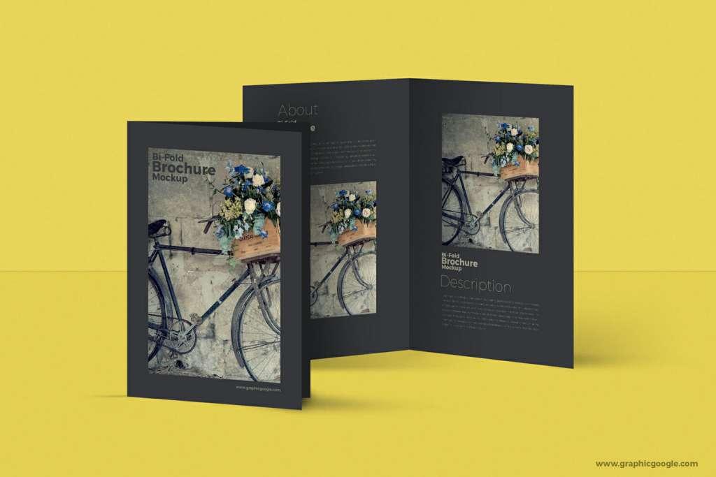 Bi-Fold A4 Brochure MockUp