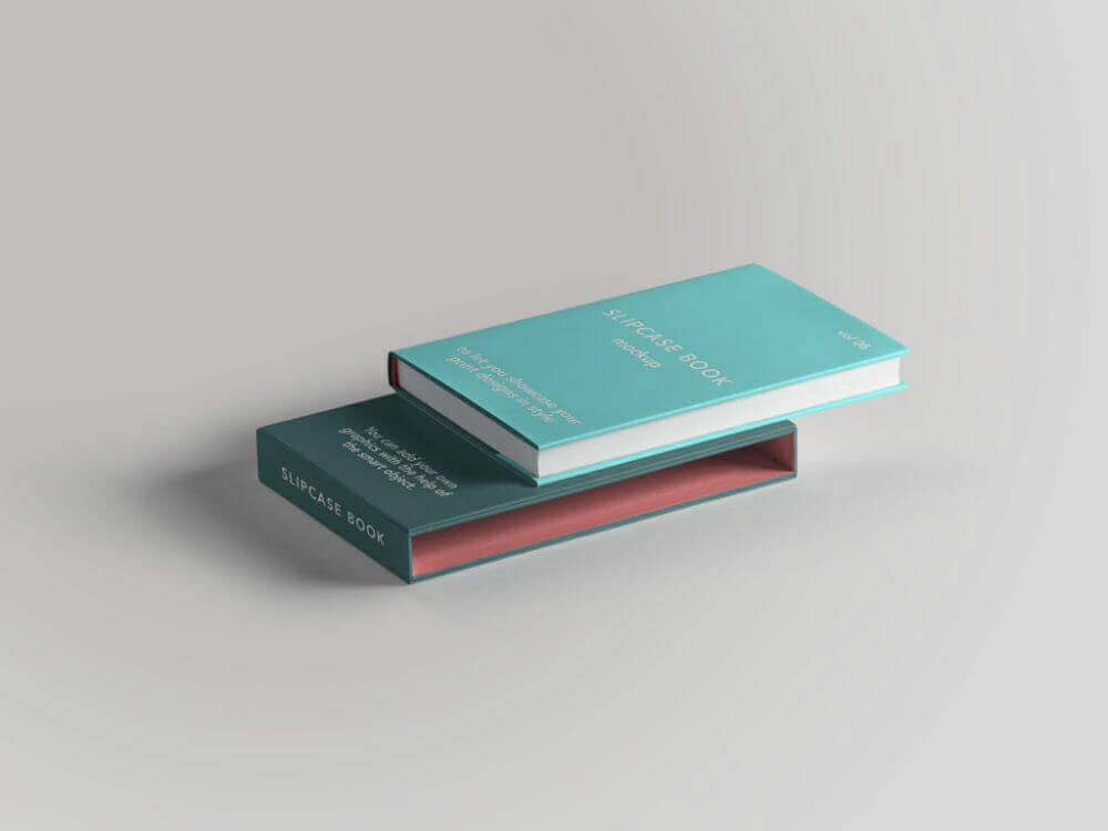 Slipcase Book with Book Mockup