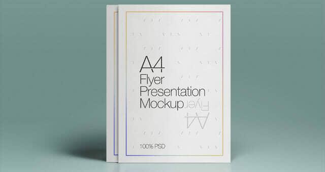 Neat A4 Flyer Mockup