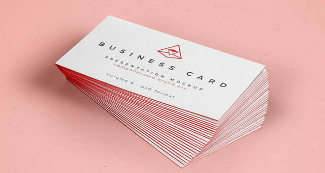 Business Card Mockup With Border