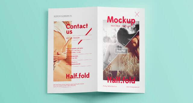 Bi Fold Mockup Template