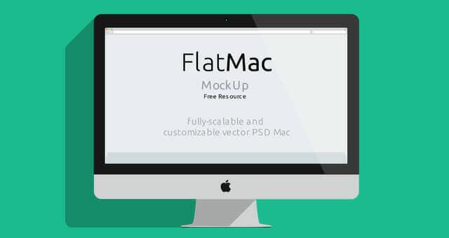4 Flat iMac & Macbook Mockups