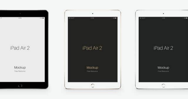 iPad Air 2 Mockup Gold Edition