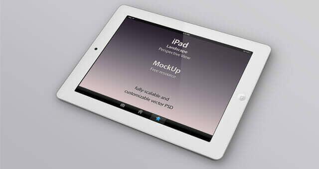 Realistic iPad Perspective Mockups