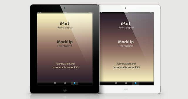 Detailed iPad Retina Mockup Template