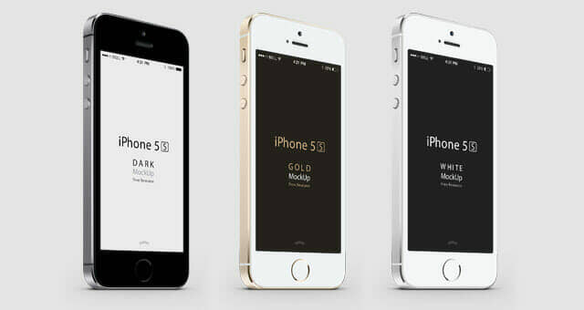 Scalable iPhone 5S Vector Mockup