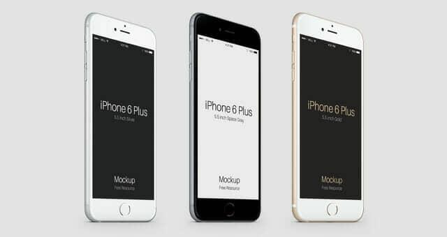 Angled iPhone 6 Plus Mockup