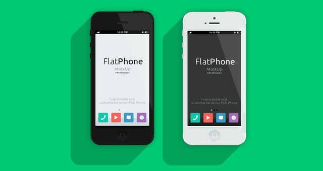 Flat Design iPhone 5 Mockup