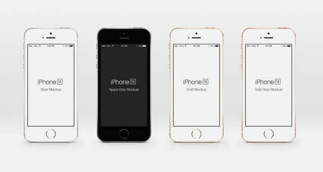 Realistic iPhone SE Mockup