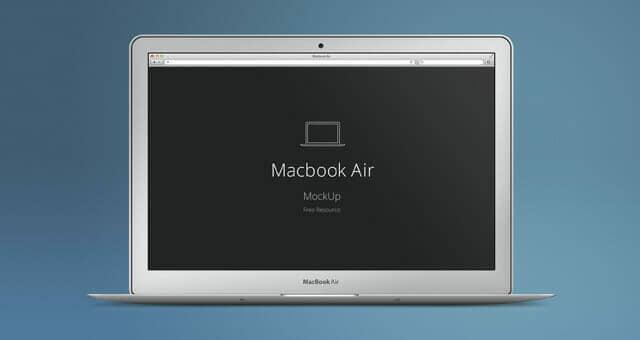 Realistic MacBook Air Mockup