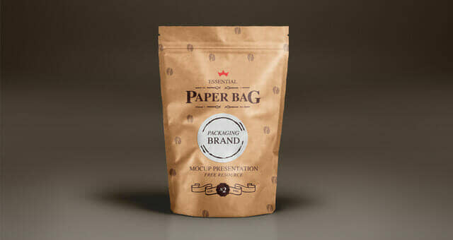 Sealable Matte Paper Bag Mockup