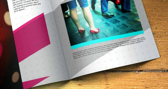 High Contrast Bifold Brochure Mockup