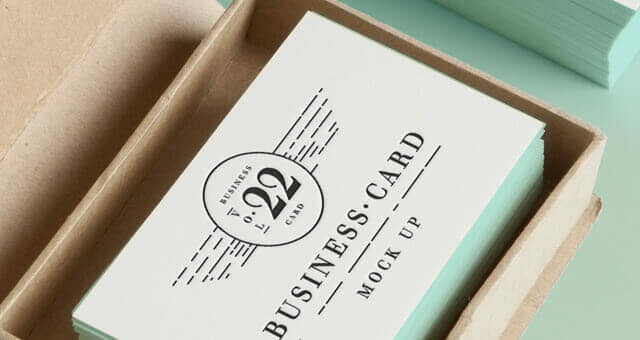 Pastel Themed Business Card Mockup
