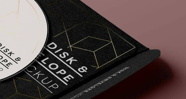 Elegant CD Disk Sleeve Mockup