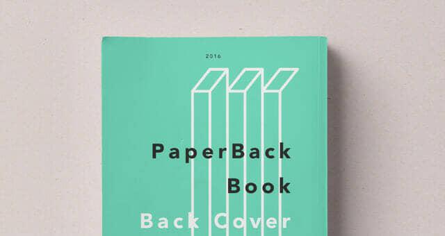 Realistic Paperback Book Mockup