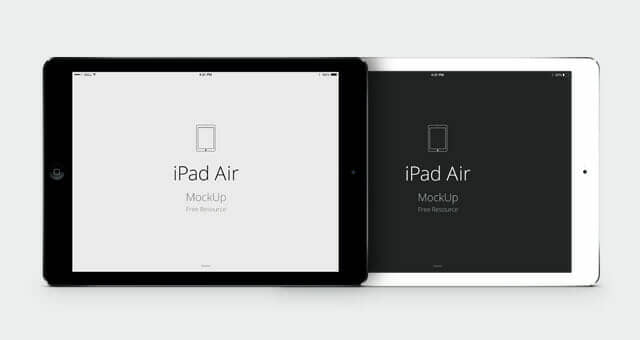 4 Realistic iPad Air Vector Mockup