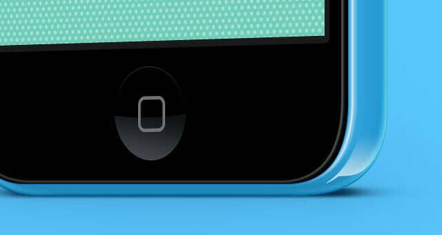 Three Quarter Colorful iPhone 5C Vector Mockup