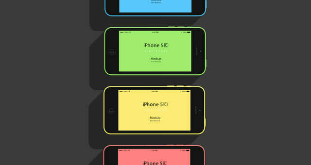 Flat Design: iPhone 5C Mockup