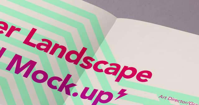 Landscape A4 Paper Mockup