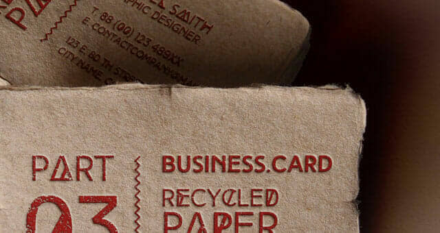 Recycled Business Card Mockup