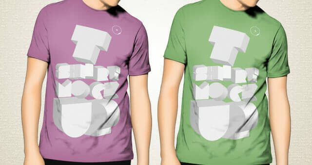 Solid Color Male T-Shirt Mockup