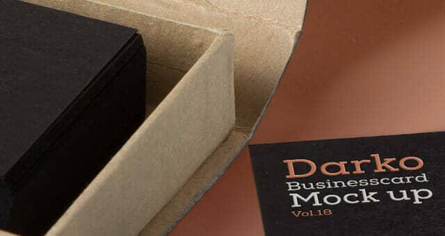 Dark Themed Business Card Mockup