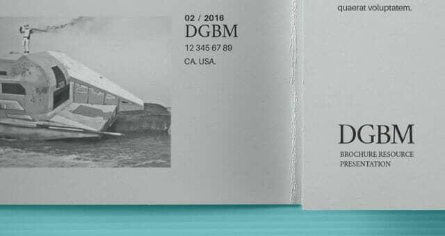 Realistic Double Gate Fold Brochure Mockup