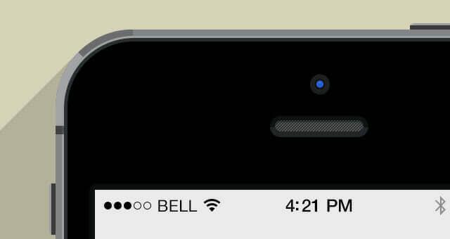 4 iPhone 5S Flat Design Mockup