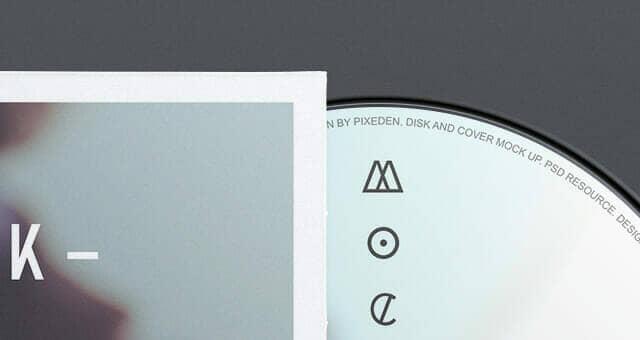 3 CD Cover Disk Mockup