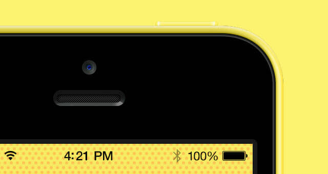 Colorful iPhone 5C Vector Mockup