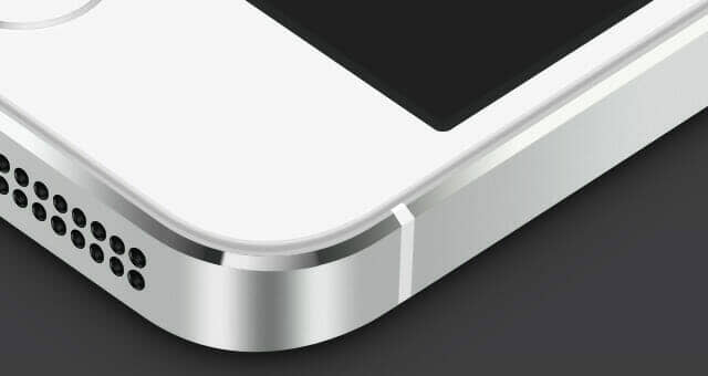 3D Perspective iPhone 5S Vector Mockup
