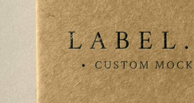 Tag Label Brand Mockup