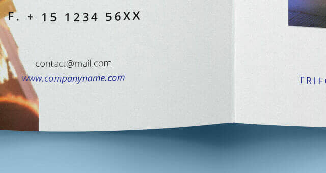Realistic Tri-Fold Brochure Mockup