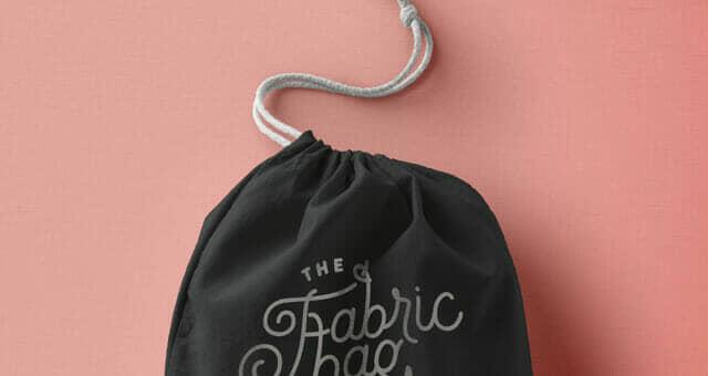 Closed Drawstring Bag Mockup