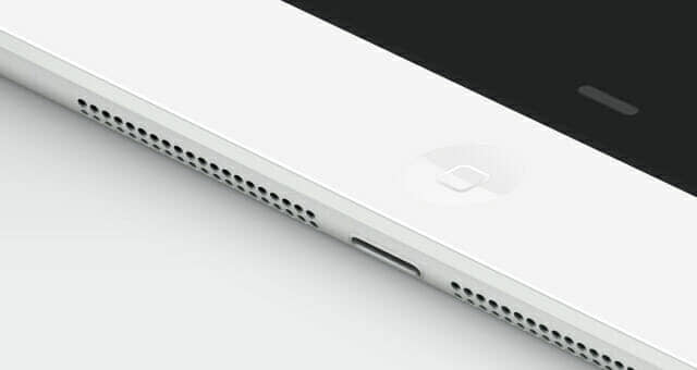 Realistic iPad Air Perspective Mockup