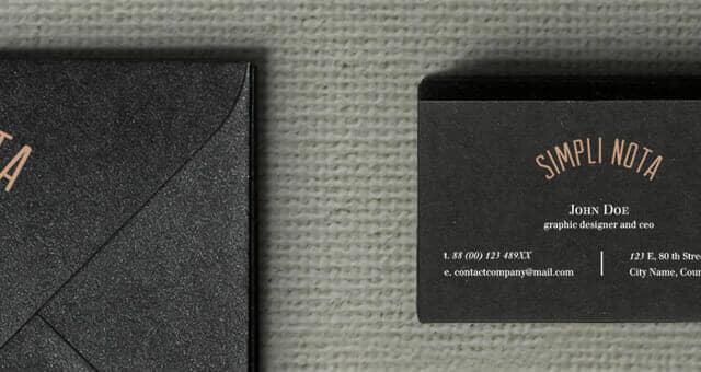Dark Stationery Branding Mockup