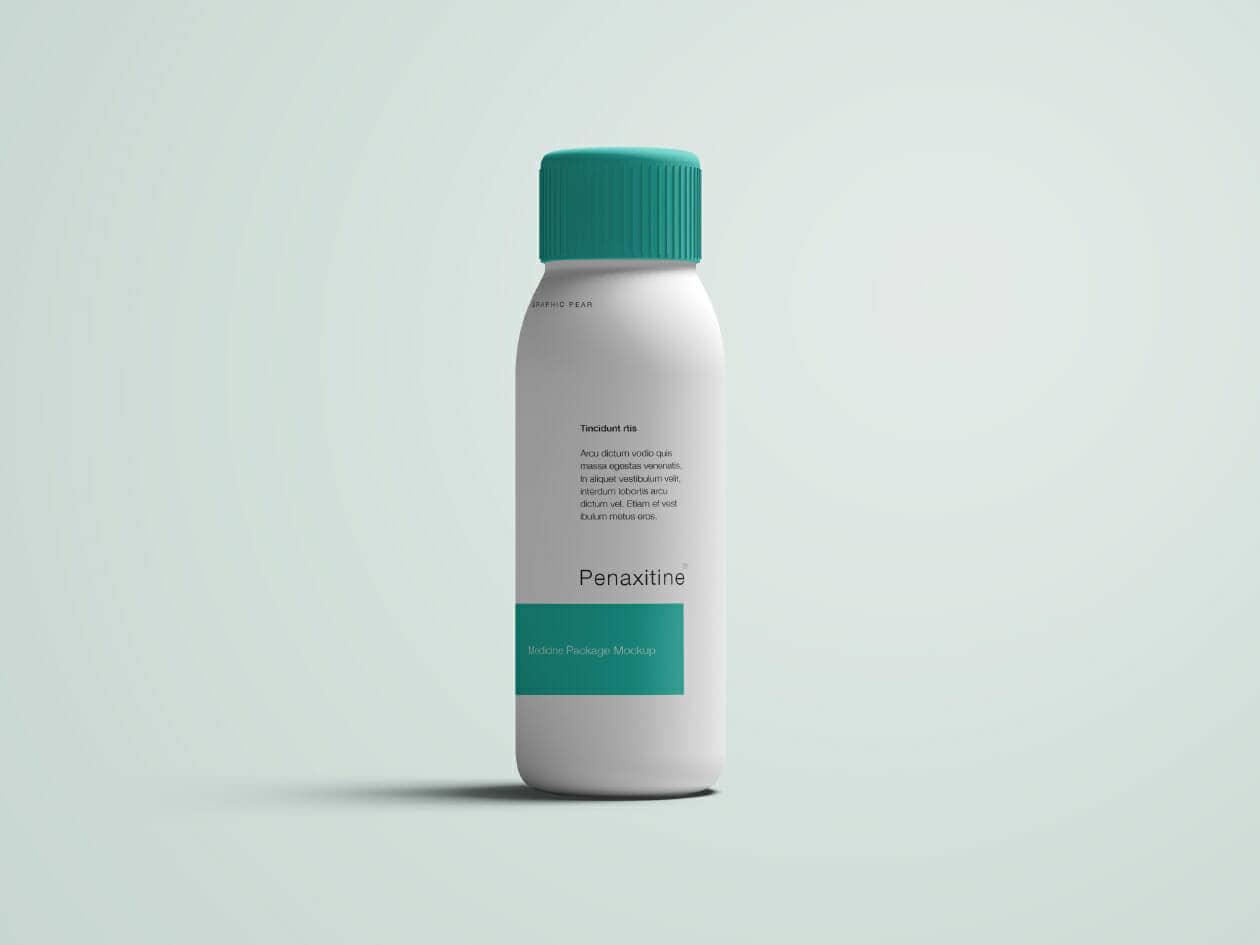 Skinny Medicine Bottle Mockup