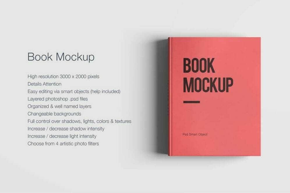 8 Simple Textbook Mockups