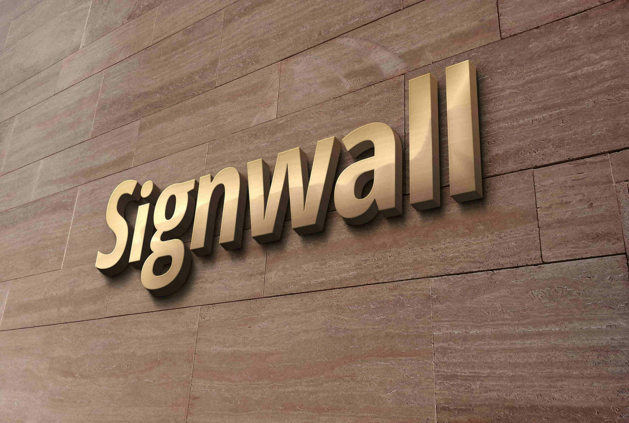 3D Logo on a Wooden Wall Mockup
