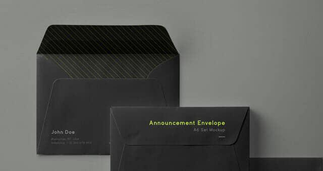 New Envelope Mockup Set