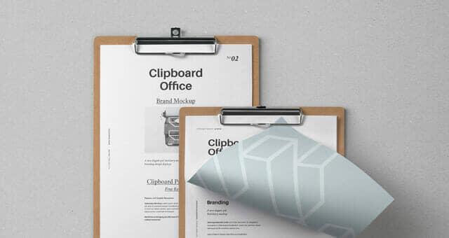 Modern Clipboard Stationery Mockup