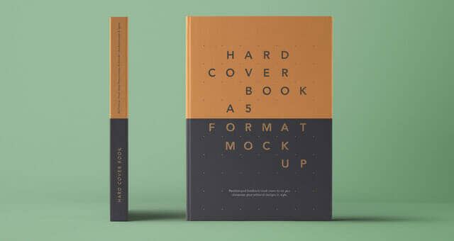 Front and Side A5 Hardcover Book