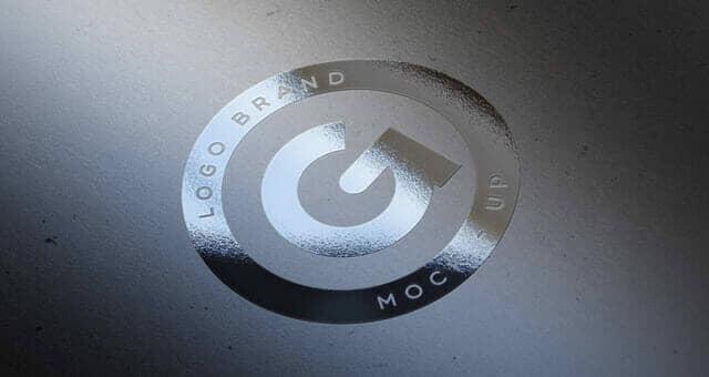 Elegant Silver Foil Logo Mockup