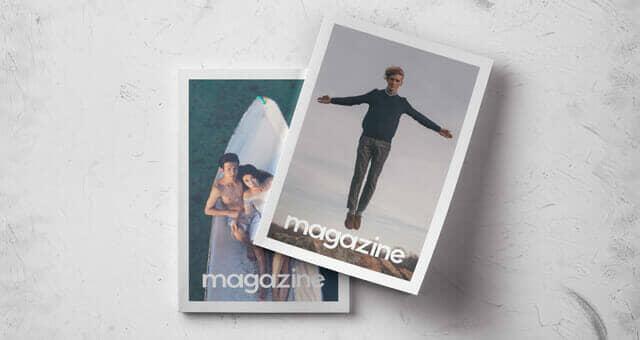 Double Overhead Magazine Mockup