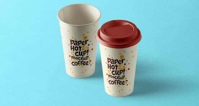 Paper Hot Cup Template Mockup