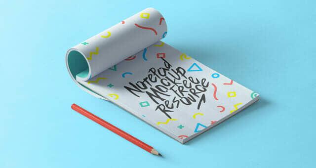 New Minimalist Notepad Mockup