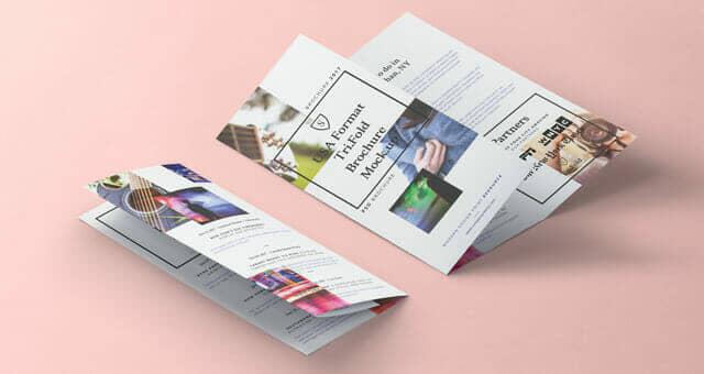 Tri Fold 8-5x11 Inch Mockup Vol2